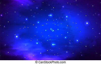 abstract night shining starry sky