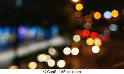 Abstract night shot of city scene