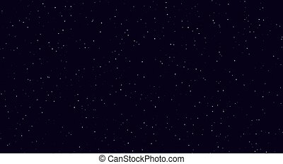 Abstract night sky, white sparkles on a dark blue background. Silver stardust light effect.