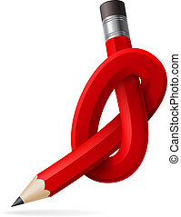 Abstract node of pencil. Illustration for design