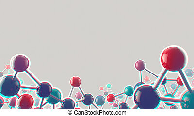 Abstract noisy medical and biology background