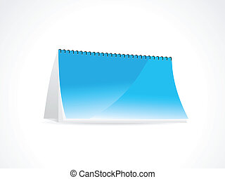 abstract note book in blue vector illustration
