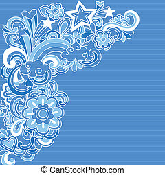 Abstract Notebook Doodles Vector