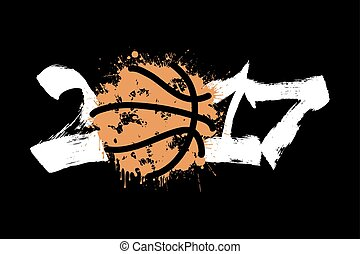 Abstract number 2017 and basketball