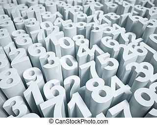 abstract, numeriek, achtergrond