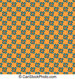 abstract objects beautiful seamless pattern on an orange background