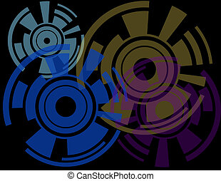 Abstract Objects on a Black Background