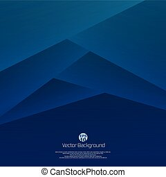 Abstract of 3D blue paper cut background. Designing for your business presentation.