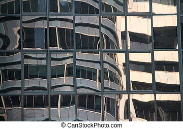 Abstract of a Modern Glass Building