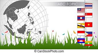 Abstract of asean economic community aec vector and vector abstract of asean economic community aec sciox Images