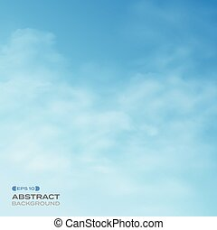 Abstract of blue sky with clouds background.