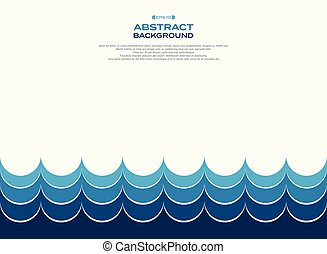 Abstract of blue water wave pattern background.