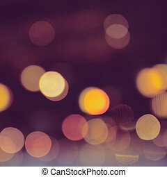 Abstract of bokeh background with filter effect