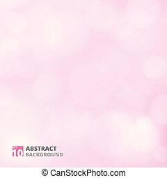 Abstract of bokeh pattern on pink background.