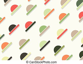Abstract of colorful geometric pattern background.