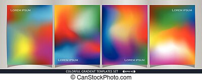 Abstract of colorful gradient template set background.