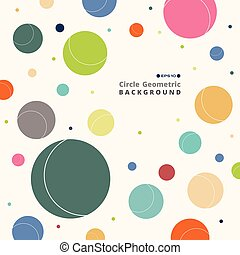 Abstract of colorful retro circle pattern background.