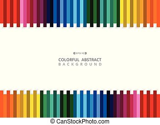 Abstract of colorful stripe line background with copy space.