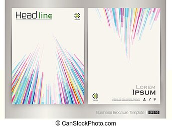 Abstract of colorful stripe pattern brochure vector.