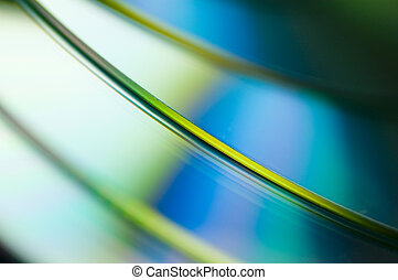 compact discs - abstract of compact discs