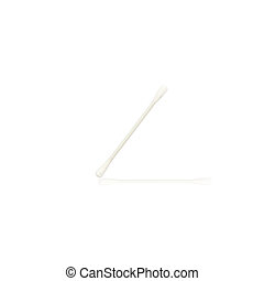 Abstract of Cotton buds isolated on white background
