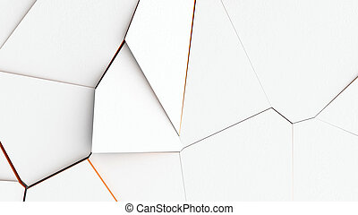 Abstract of cracked surface. 3d render background with ...