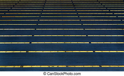 Abstract of deep blue roofs.