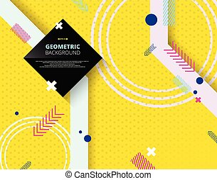 Abstract of geometric pattern on yellow step background.