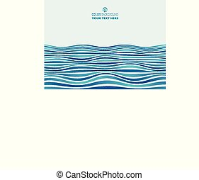 Abstract of gradient blue stripe wave pattern background.