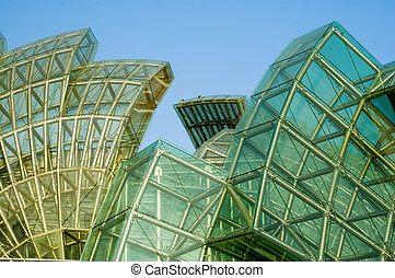 Abstract of green glass - Abstract green glass of petals of ...