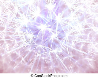 abstract of nature - sparkling dandelion seedhead created to...