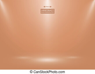 Abstract of orange shell egg color in studio room background.