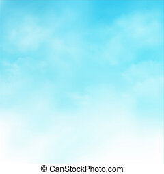 Abstract of realistic blue sky with clouds background.