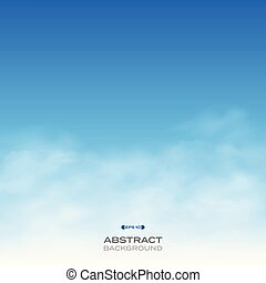 Abstract of realistic clouds on blue sky background.