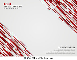 Abstract of red technology geometric background.