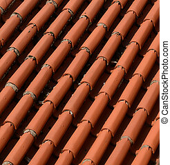 Abstract of roof tiles
