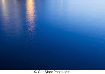 Abstract of sea surface at sunset