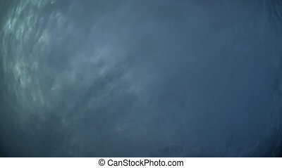 Abstract of Storm Clouds and Lightning in Timelapse