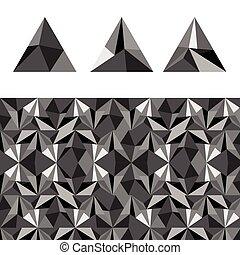 abstract of triangular pyramid illustration