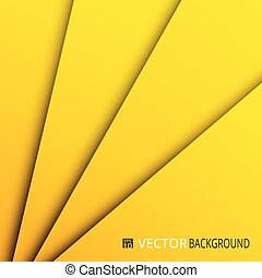 Abstract of yellow paper cut layers background.