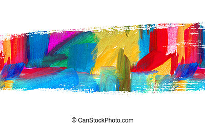 Abstract oil painting. Brush stroke. Blurred spot. Freehand...