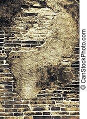 abstract old brick wall