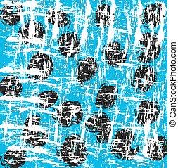 abstract old circle pattern blue background, vintage vector illustration design element