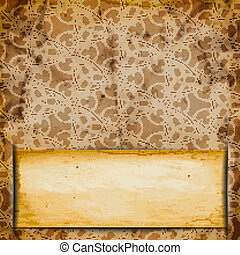 Abstract Old grungy paper background with texture and space for your text