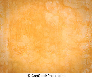 Abstract old orange cement wall with crack texture