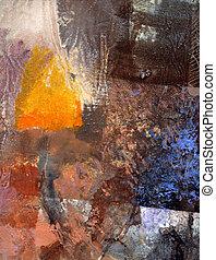 abstract, olieverfschilderij, doek