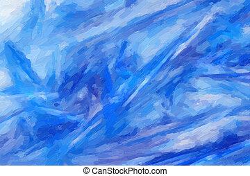 abstract, olieverfschilderij, op, doek
