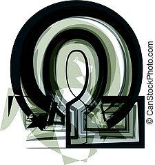 Abstract omega Symbol illustration