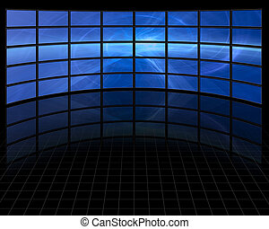 Abstract on Large Set of Screens
