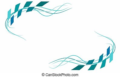 Abstract on white background in vector illustration